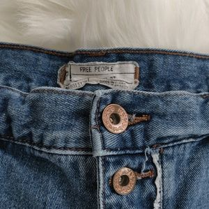 Free People Shorts - Free People Sz 27 denim distressed button shorts